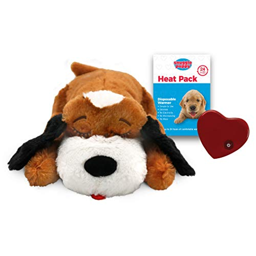 SmartPetLove Snuggle Puppy Behavioral Aid Toy, Brown and White