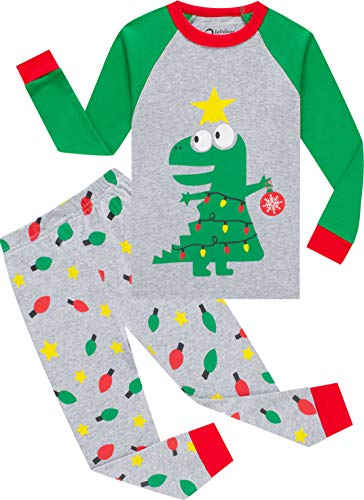 Boys Christmas Dinosaurs Pajamas Baby Girls Santa Claus Pjs Children Cotton Sleepwear Toddler Jammies Size 4