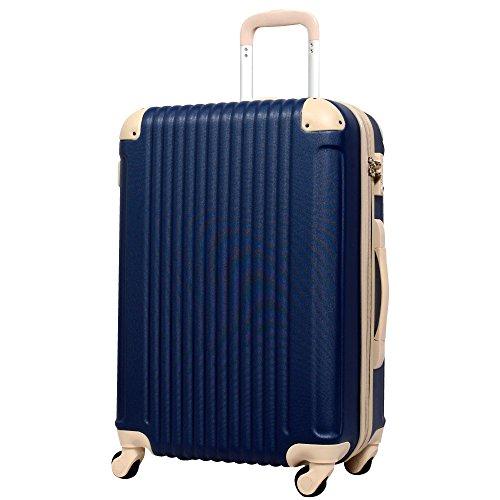 L型 ネイビー×ベージュ / FK1212-1(POP・DO) スーツケース キャリーバッグ TSAロック搭載 大型 超軽量