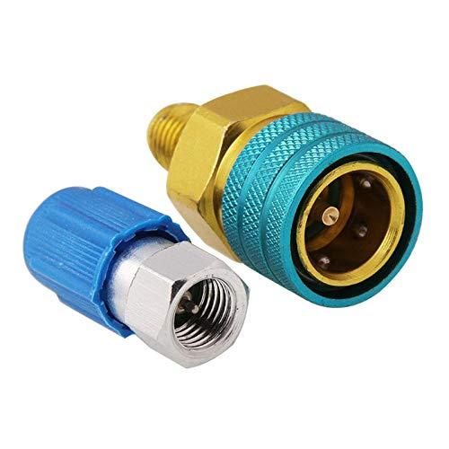 B Blesiya R1234YF zu R134A Niedrigen Side Quick Koppler Adapter Auto Auto klimaanlage Montage Kupplung, mit Auto abgeschaltet, einfach und bequem zu bedienen.