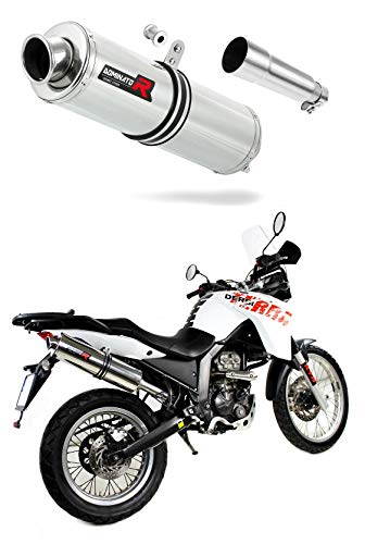 DERBI Terra Adventure 125 Escape Moto Deportivo Redondo Silenciador Dominator Exhaust Racing Slip-on 2008 2009 2010 2011 2012 2013 2014 2015