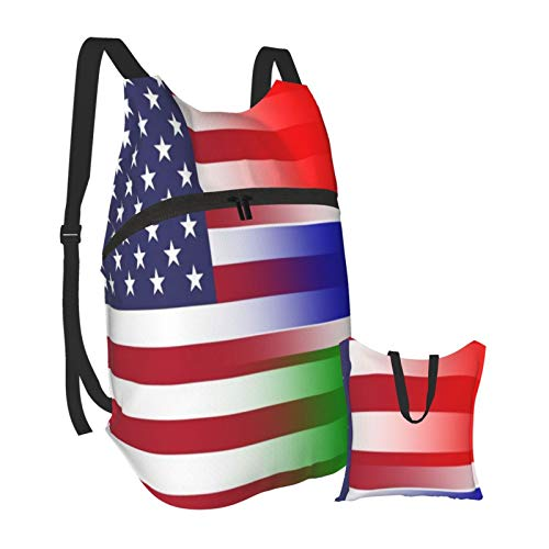 American Gambia Flag Outdoor Foldable Travel Backpack Lightweight Hiking Backpack