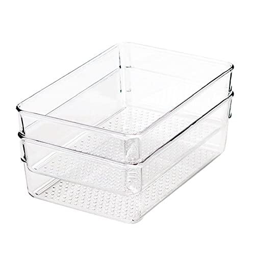 Clear Skafferi Organizer Bin transparent förvaringsbox Kylskåp Storage Case Basket 2 PCS Väskor Korgar