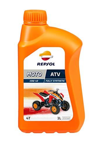 REPSOL Moto Atv 4T 10W-40 Aceite De Motor Para Moto, 1L