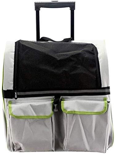 YYhkeby Pet Carrier Rucksack Trolley Spaziergänger for Small Medium Hunde Katzen Luxus Reise Pet Bag Kinderwagen (Haustiere bis zu 15 Pfund) Ventilated Entwurf Jialele (Color : Grey)