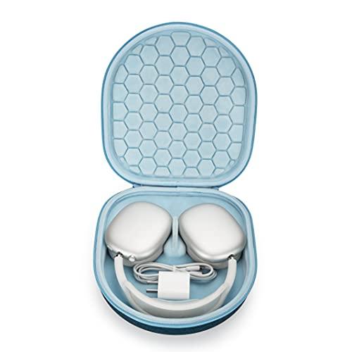 Tasche Etui für Apple AirPods Max unterstützt den Schlafmodus, tragbarer Tragetasche für den Hard Hülle Hülle (Blue)