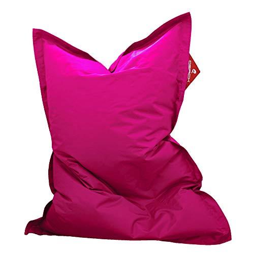 QSack Kindersitzsack Outdoorer, mit Innensack und Deutscher Qualitätsfüllung, 100x140 cm (pink)
