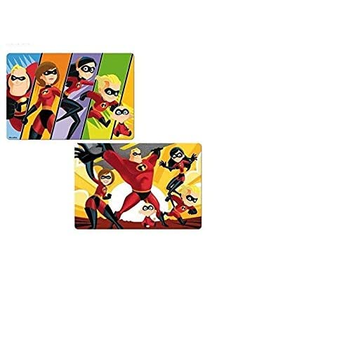 Disney Incredibles Kids 3D Placemats For Dining Table Kitchen Mat Baby Placemat 3d Placemats For Dining Table Reusable Washable 2 at Price of 1 BPA-Free Floor Mats For Kids