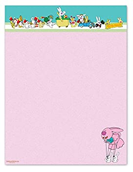 Easter Stationery - 8.5 x 11-60 Easter Letterhead Sheets - Easter Paper