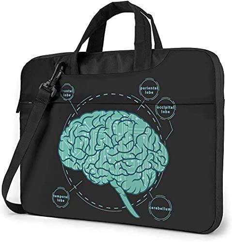 Hokdny Borsa Porta PC Tumore al cervello mondiale Multifunzionale portatile sottile luce spalla del computer portatile della cartella del portatili Pocket Caso