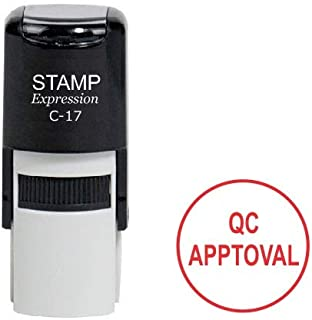 StampExpression - QC Approval Office Self Inking Rubber Stamp - Red Ink (A-6969)