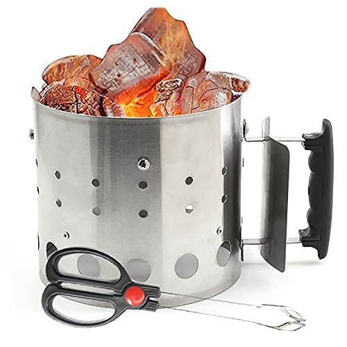 URJEKQ Barbecue BBQ Chimney Starter Quick Start Charcoal Burner Fire Lighter Coal Summer Garden Party