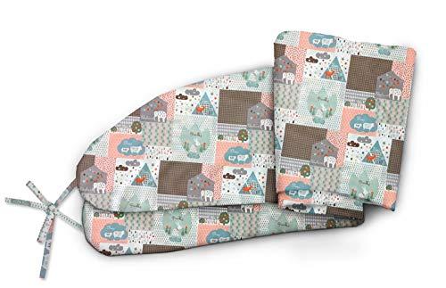 NATURECA Stillkissenbezug für babykissen Lagerungskissen 170cm in verschiedenen Farben und Designs Stillkissen bezug aus feiner Baumwolle Aussenbezug mit versteckten Reißverschluss