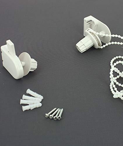 MADECOSTORE Mécanisme Blanc pour Store Enrouleur Tube Ø25mm