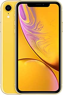 Apple Iphone XR With Face Time - 128 GB, 4G LTE, Yellow, 3 GB Ram, Single Sim & E-Sim