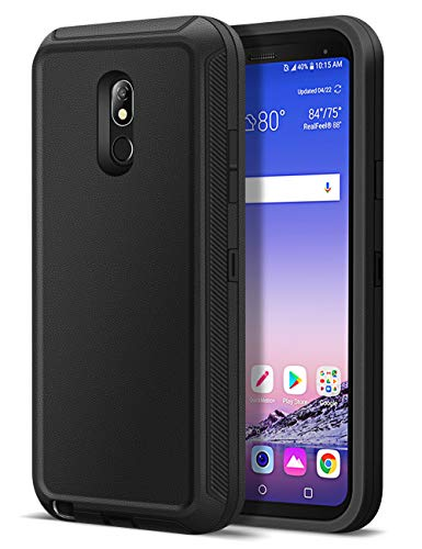 Jelanry Heavy Duty Armor for LG Stylo 5 Case Dual Layer Full Body Protective Shell LG Stylo 5 Plus Case Shockproof Sports Rugged Phone Case Anti-Scratches Cover Non-Slip Bumper Hybrid Case Black