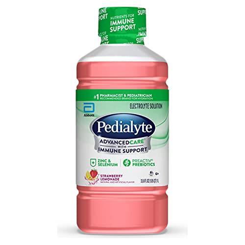 Abbott Laboratories Pedialyte Advance Care Oral Electrolyte Solution, Strawberry Lemonade,1-Liter, 4 Count