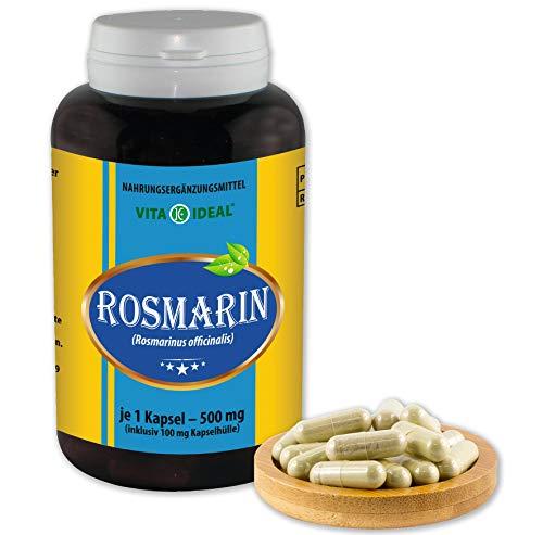Vita IDEAL ® rozemarijn (Rosmarinus officinalis) 180 capsules per 460 mg, van zuiver natuurlijke kruiden, zonder additieven