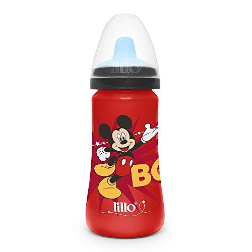 Copo Colors Disney com Bico em TPE Mickey - Lillo, Vermelho