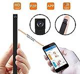 Cámara espía ocultada P2P, cámara inalámbrica Super Mini 1080P Video de Seguridad con detección de Movimiento, App...