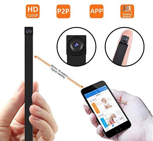 Cámara espía ocultada P2P, cámara inalámbrica Super Mini 1080P Video de Seguridad con detección de Movimiento, App Control para iOS y Android Señal Estable 10M