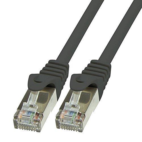 BIGtec LAN Kabel 30m Netzwerkkabel Ethernet Internet Patchkabel CAT.5 schwarz Gigabit SFTP doppelt geschirmt für Netzwerke Modem Router Switch 2 x RJ45 kompatibel zu CAT.6 CAT.6a CAT.7 Stecker