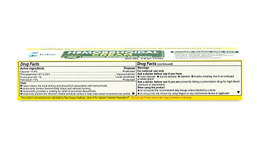 Hemorrhoid Symptom Treatment Cream, Itching, Burning & Discomfort Relief, Tube (1.8 oz) Compare to Preparation H