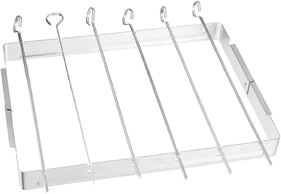 Metal Skewers Max 59% OFF BBQ Skewer Rack Steel Stainless Grill with San Jose Mall Folding
