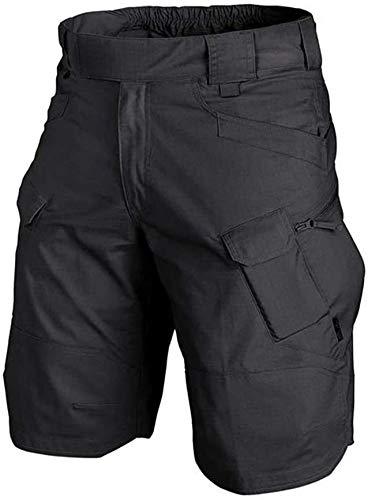 DaYee 2021 actualizado impermeable táctico pantalones cortos para hombres-secado rápido transpirable, negro, S