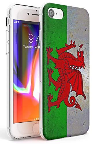 Galles Bandiera Slim Cover per iPhone 6 TPU Protettivo Phone Leggero con Viaggio Modelli Cymru Rugby Calcio