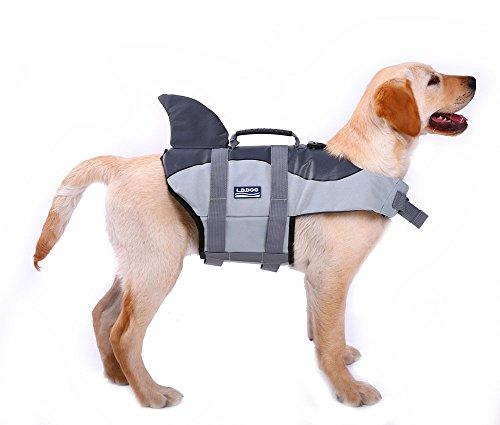 Dog Life Jacket for Swimming Dog Life Vest Shark Pet Flotation Float Coat, Quick Release Life Saver...