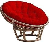 Esteras para sillas Cojín de silla de hamaca colgante redondo, espesante de algodón extra suave Papasan Silla de amortiguador con corbatas, impermeable sin deslizamiento Huevo Cojín de asiento Patio M