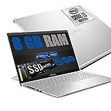 Ordenador portátil Asus Silver de 15,6 pulgadas con pantalla FHD Intel i3-1005G1 de 3,4 GHz / RAM de 8 GB DDR4 / SSD M2 500 GB / HD Graphics UHD / Hdmi WiFi Bluetooth / Windows 10 / Open®