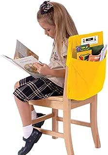 Seat Sack Elastic Back Storage Pocket, 12 to 17 Inches, Yellow - 1372905
