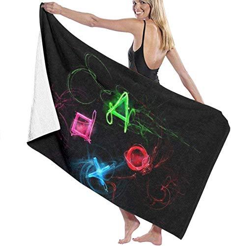 Toalla de Playa de Microfibra de Botones de Playstation Abstracta Toallas de baño Ligeras de Secado rápido 32 x 52 Pulgadas