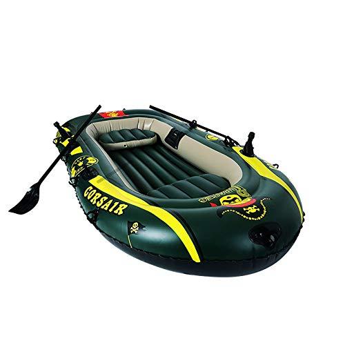 Kayaks Inflables, Botes De Goma Inflables Engrosados portátiles para Exteriores, Botes De Rafting Plegables De PVC para 2 Personas, Botes De Pesca De Lagos Y Ríos