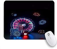 EILANNAマウスパッド 未来的な赤と青のネオンの光でカジノギャンブルのコンセプト ゲーミング オフィス最適 高級感 おしゃれ 防水 耐久性が良い 滑り止めゴム底 ゲーミングなど適用 用ノートブックコンピュータマウスマット