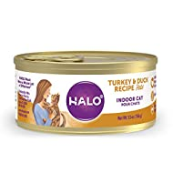 Halo Wet Cat Food, Grain-Free, Indoor Cat Food, High Protein, 5.5-Ounce Can (Pack of 12)