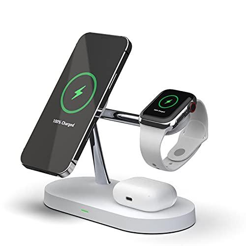 Cargador Inalámbrico, Estación De Carga Inalámbrica 3 En 1, Soporte De Carga Rápida De 10 W Compatible con iPhone 12 12 Pro 12 Pro MAX 12 Mini 11 11 Pro MAX, para Apple Watch, para AirPods Pro