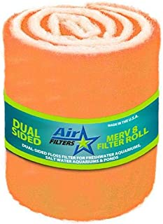 HVAC/Air Filter Media Roll, Orange/White MERV8 Polyester Media with a Heavy Dry Tackifier - 1