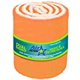HVAC/Air Filter Media Roll, Orange/White MERV8 Polyester Media with a Heavy Dry Tackifier - 1 inch x 25 inch x 10 Foot