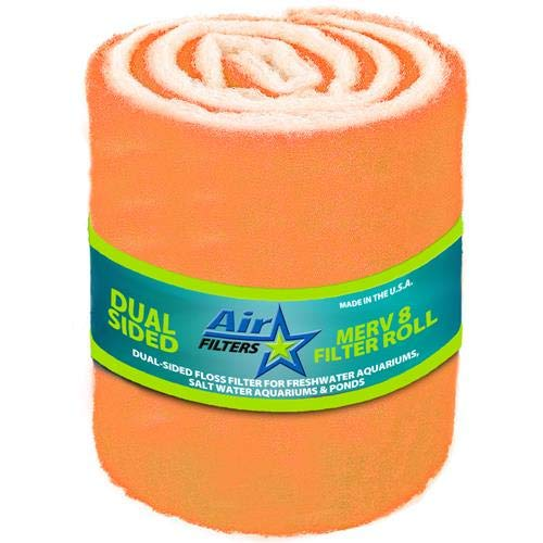 HVAC/Air Filter Media Roll, Orange/White MERV8 Polyester Media...