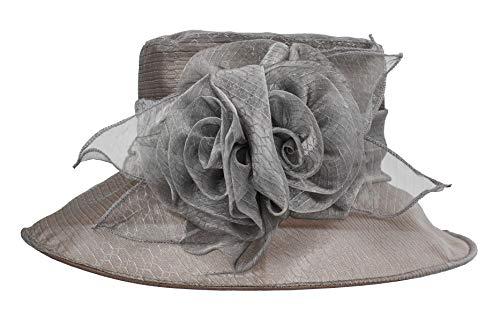 Carnavalife Sombrero de Boda con Flores para Mujer, Gorro Nupcial para Vestido...