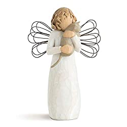Sentiment: I love our friendship; written on enclosure card 5 Inch hand-painted resin figure with wire wings; ready to display on a shelf, table or mantel; to clean, dust with soft brush or cloth A gift to celebrate friendships; especially nice for p...