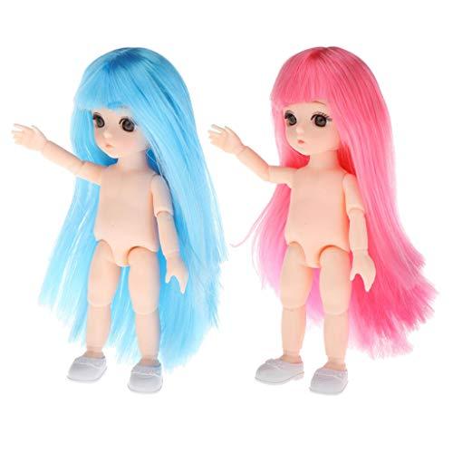 Harilla Adorabile 6 '' Flessibile 1/12 Bambola BJD Bambola Nuda in Vinile Corpo Ragazza Bambole Fai da Te