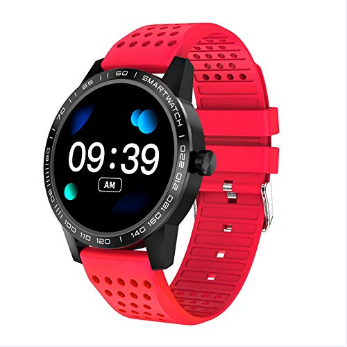 HTYX Long Battery Life Smart Bracelet Blood Pressure Heart Rate Sleep Monitoring Activity Tracker 1.3 inch Color Screen Female Male General Purpose,Red