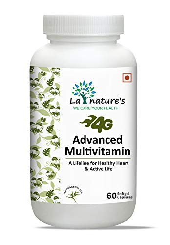 La Nature's 4G Advanced Multivitamin & Multi-Minerals with 45 ingredients (Ginseng Extract, Grape Seed Extract, Green Tea Extract & Gingko Biloba Extract) for Men & Women | 60 Softgels Capsules