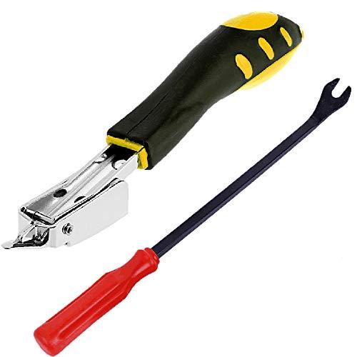 JJDD 2 herramientas para quitar pegamento hebilla herramienta para quitar la hebilla interior del coche y removedor de grapas de alta resistencia