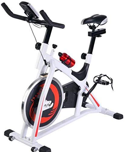 SAFGH Bicicleta estática Bicicleta de Fitness Interior Ciclismo Directo Accionado por Correa Volante avanzado Ajustable Adecuado para usuarios de Diferentes Alturas