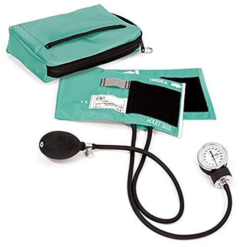 Prestige Medical - 882-AQS Premium Aneroid Sphygmomanometer with Carry Case, Aqua Sea